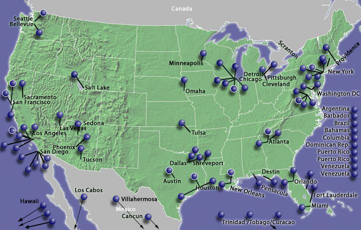 EMARKETING Hilton Properties - Hilton properties map
